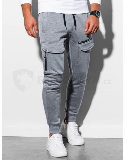 Men's sweatpants P905 - grey melange