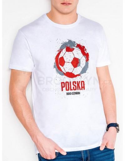 Pánské tričko s potiskem S965 - bílé