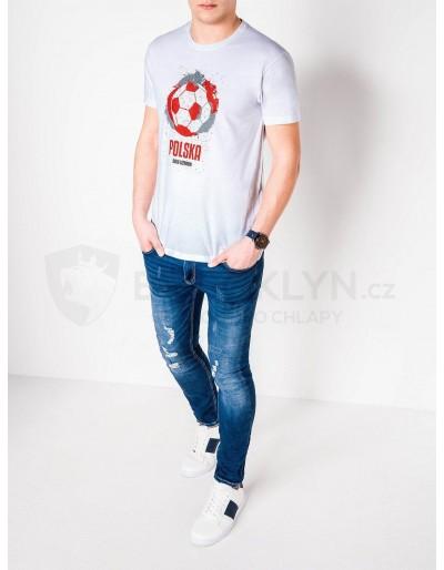 Men's printed t-shirt S965 - white