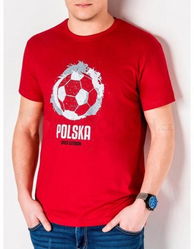 Pánské tričko s potiskem S965 - červené