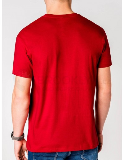 Men's printed t-shirt S965 - red