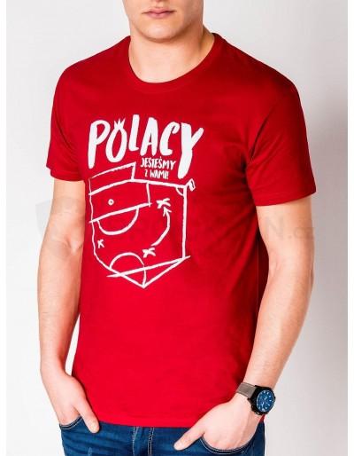 Pánské tričko s potiskem S966 - červené