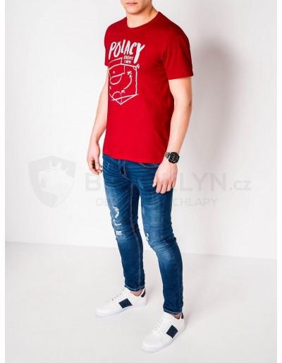 Men's printed t-shirt S966 - red