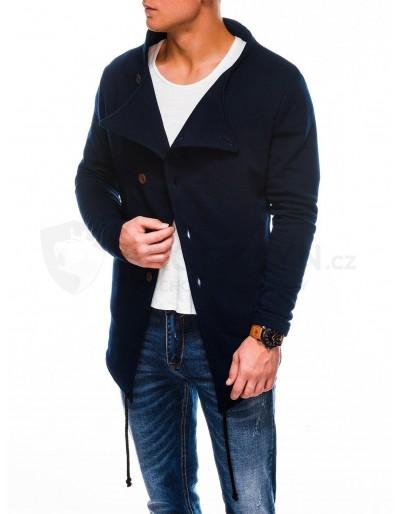 Men's buttoned sweatshirt B310 - navy