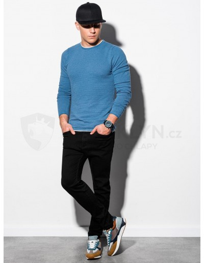 Men's sweater E121 - light blue