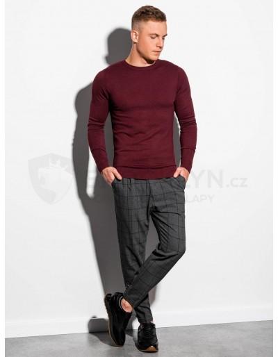 Men's sweater E177 - dark red