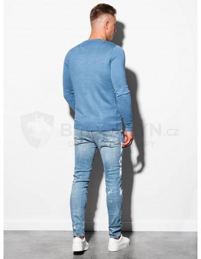 Men's sweater E177 - light blue