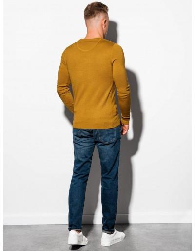 Men's sweater E177 - mustard