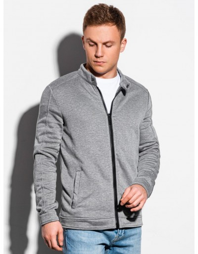 Men's zip-up sweatshirt B1071 - grey melange