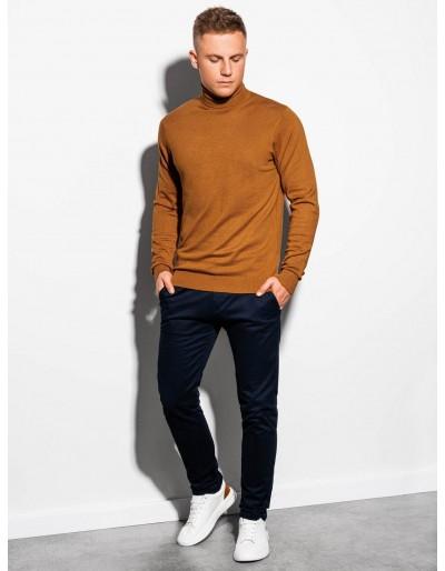 Men's sweater E179 - camel
