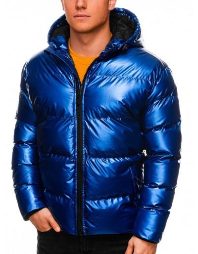 Pánská zimní bunda C463 - modrá