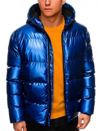 Men's winter jacket C463 - blue