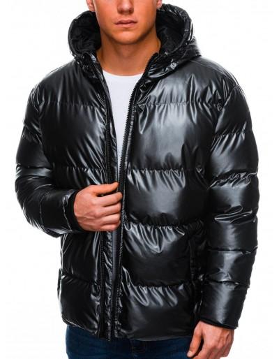 Men's winter jacket C463 - black
