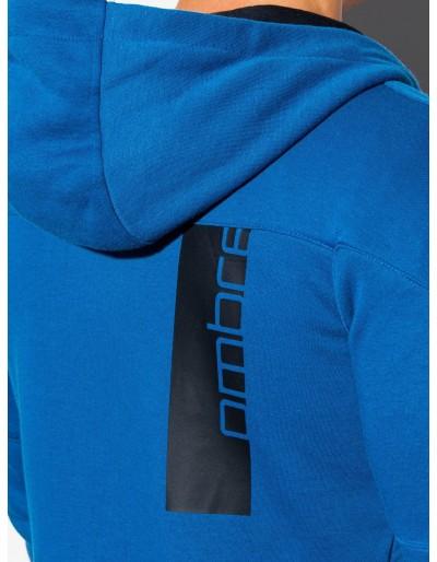 Men's zip-up sweatshirt B1076 - blue