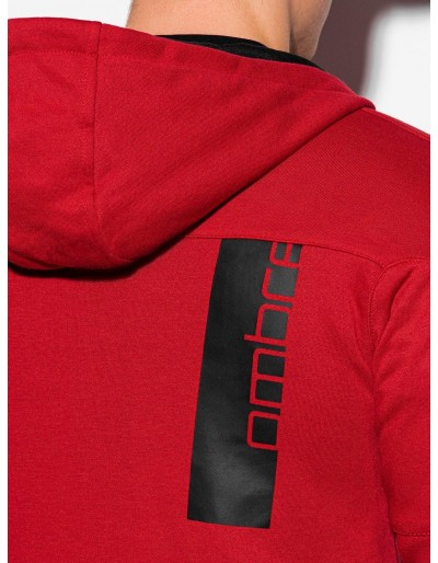 Men's zip-up sweatshirt B1076 - red
