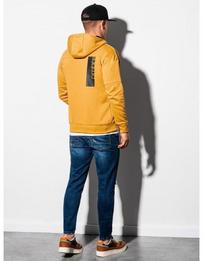 Men's zip-up sweatshirt B1076 - yellow