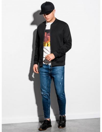 Men's zip-up sweatshirt B1077 - black