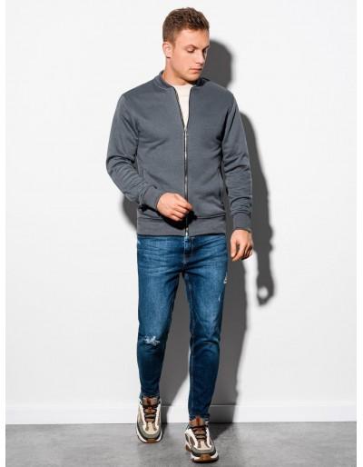 Men's zip-up sweatshirt B1077 - dark grey