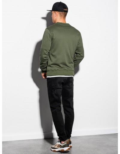 Men's zip-up sweatshirt B1077 - khaki