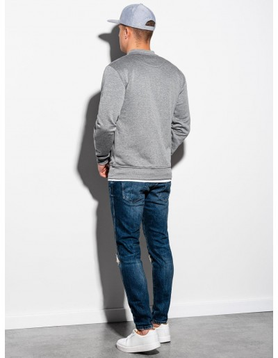 Men's zip-up sweatshirt B1077 - grey melange