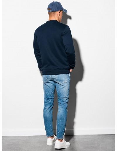 Men's zip-up sweatshirt B1077 - navy