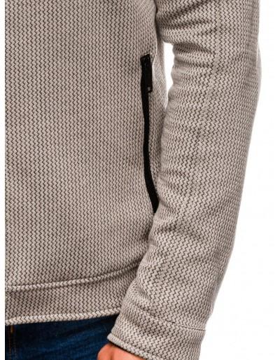Men's zip-up sweatshirt C453 - brown