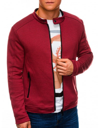 Men's zip-up sweatshirt C453 - red