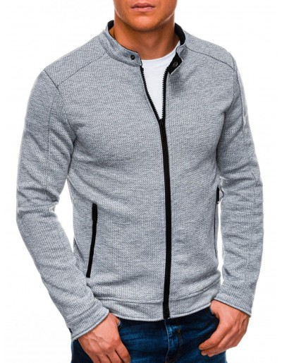 Men's zip-up sweatshirt C453 - grey