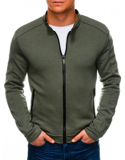 Men's zip-up sweatshirt C453 - khaki