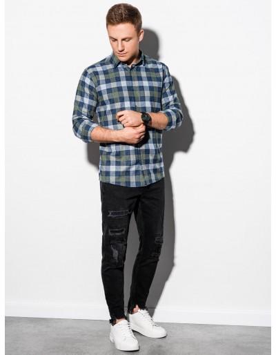 Men's shirt with long sleeves K565 - khaki