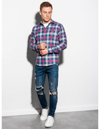 Men's shirt with long sleeves K565 - red