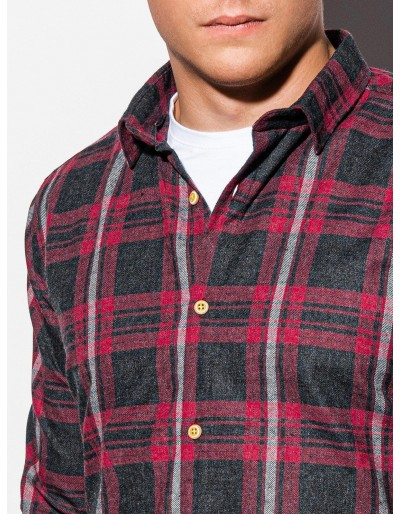 Men's shirt with long sleeves K562 - red