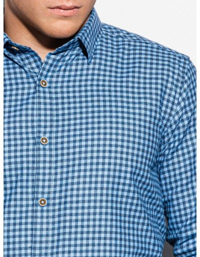 Men's shirt with long sleeves K563 - light blue