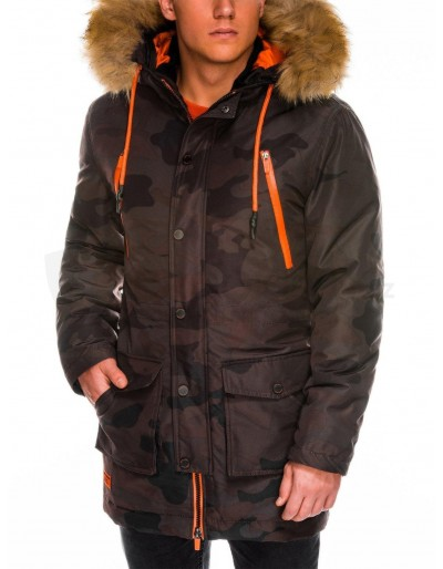 Men's winter parka jacket C358 - camo