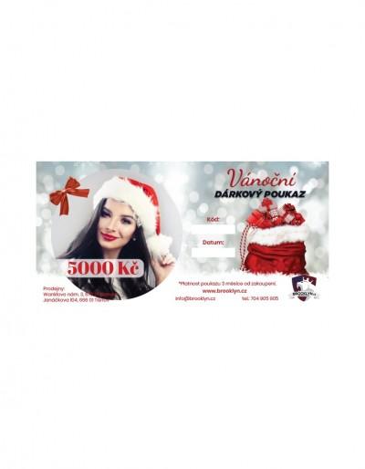 Vánoční dárkový poukaz pro muže v hodnotě 5000 Kč