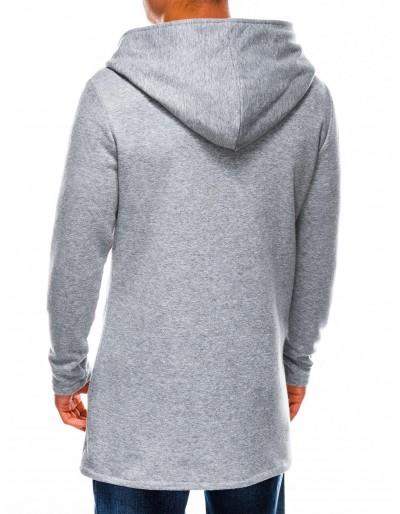 Men's hoodie with zipper B668 HUGO - grey
