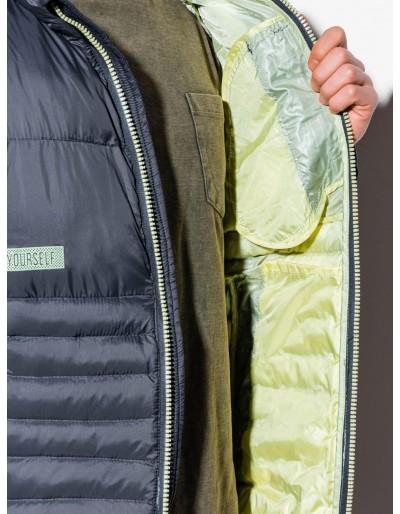 Men's mid-season quilted jacket C372 - grey