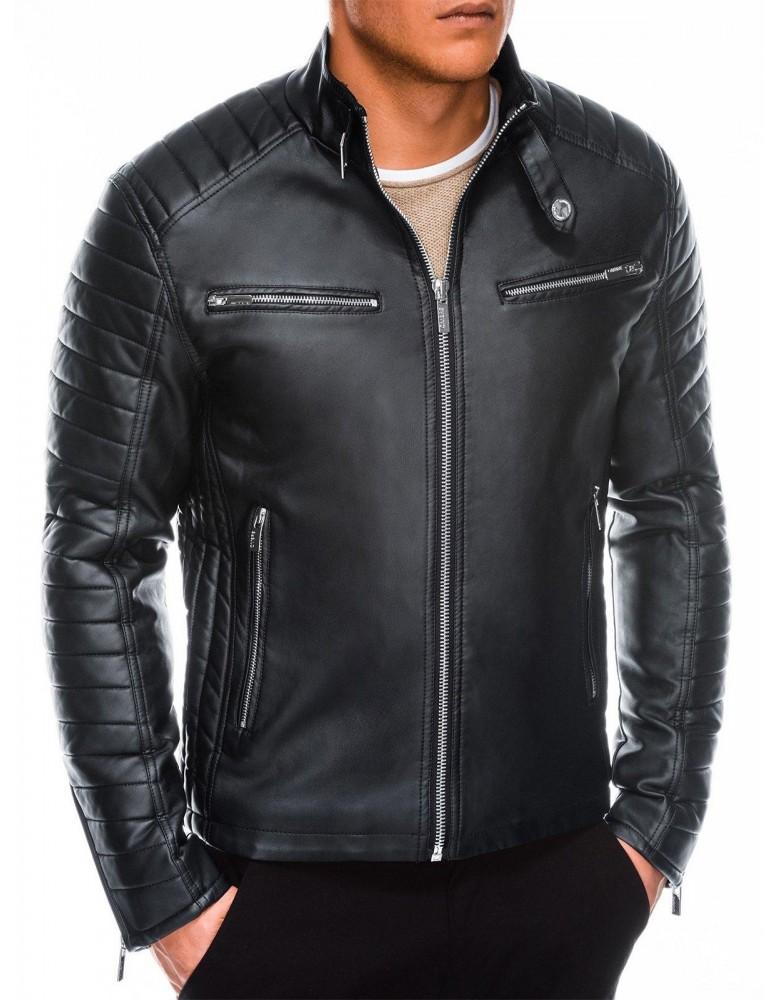 Pánská motorkářská bunda C414 - černá