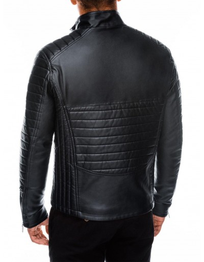 Men's biker jacket C414 - black