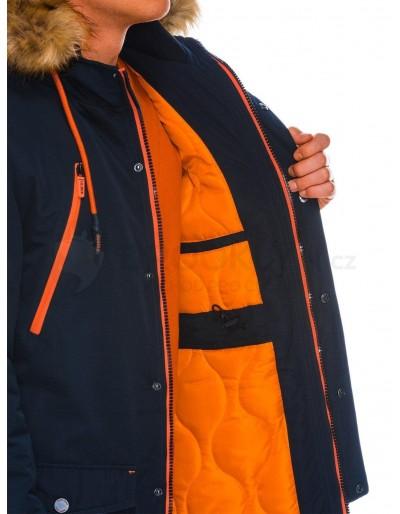 Men's winter parka jacket C358 - navy