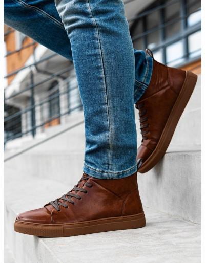 Pánská kotníková obuv T322 - hnědá