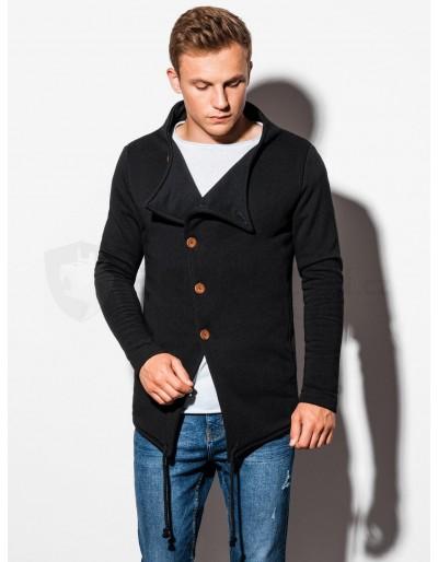 Men's buttoned sweatshirt B310 - black