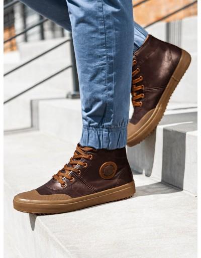 Pánská kotníková obuv T329 - hnědá