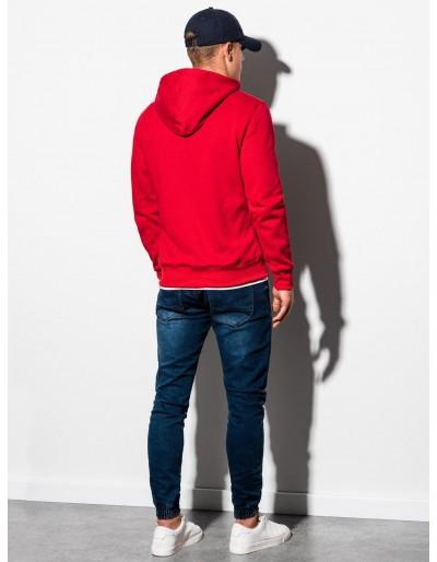 Men's zip-up sweatshirt B977 - red