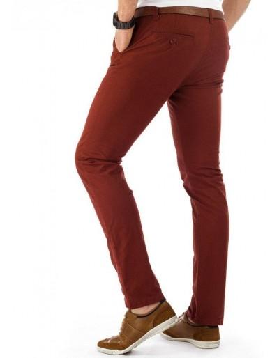 Spodnie męskie chinos bordowe UX0382