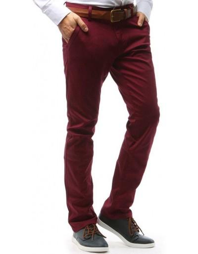 Spodnie męskie chinos bordowe UX0748