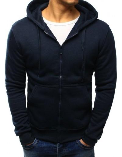 Čierna pánska mikina na zip s kapucňou BX2195