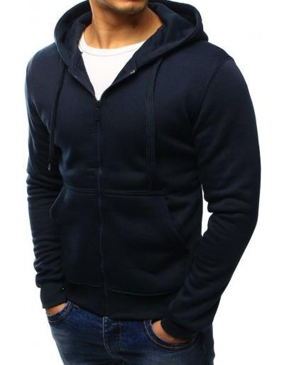 Čierna pánska mikina na zips s kapucňou BX2195