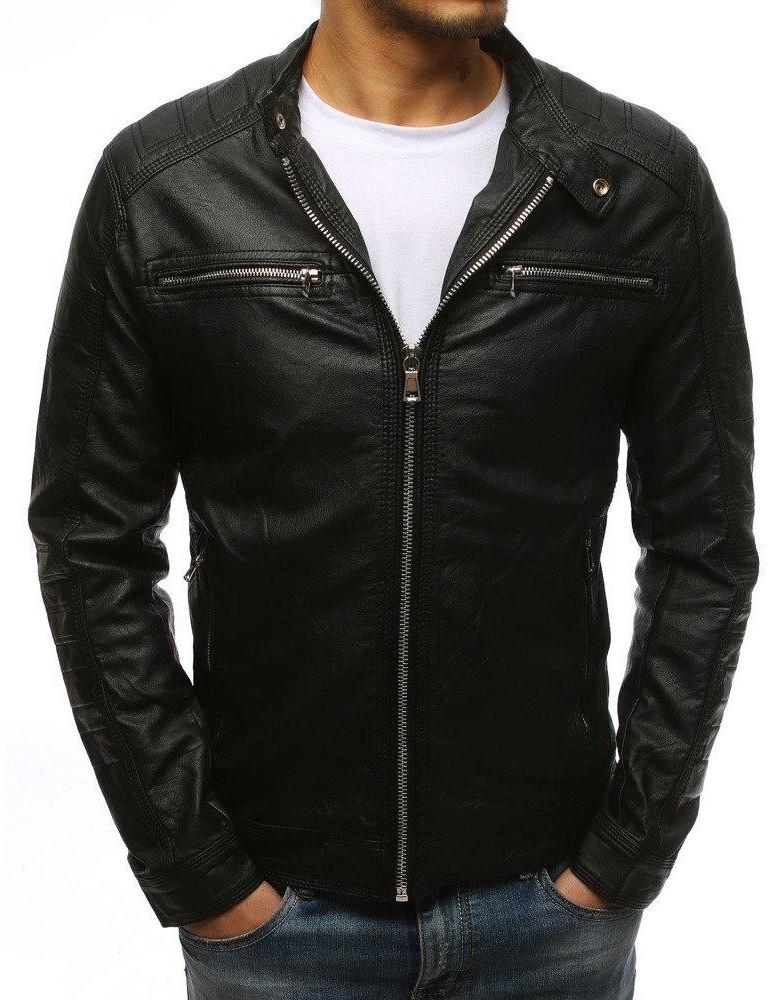 Černá pánská kožená bunda TX1532