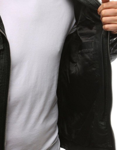 Kurtka męska skórzana czarna TX1532